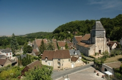 Eglise Saint-Genest -   France Loir-et-Cher Lavardin vue depuis le château  Photographie prise par GIRAUD Patrick