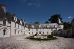 Château du Gué-Péan - Deutsch: Schloss Le Gué-Péan im Département Loir-et-Cher/Frankreich - Innenhof.