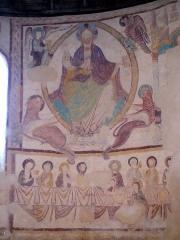 Eglise Saint-Jacques -  St-Jacques-des-Guérets (Loir-et-Cher, Frankreich), Christus in der Mandorla, Abendmahl
