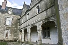 Domaine du château de Talcy - Français:   Château de Talcy (Loir-et-Cher), cour intérieure