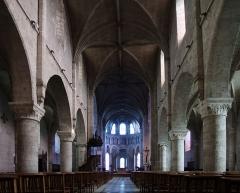 Eglise Notre-Dame - Deutsch: Beaugency, Ortschaft im Département Loiret/Frankreich - Inneres der Kirche Notre-Dame aus dem 12. Jahrhundert.