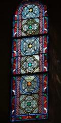 Eglise Notre-Dame - Deutsch: Bleiglasfenster in der Kirche Notre-Dame in Bellegarde (Frankreich), Darstellung: Mariä Himmelfahrt, Signatur: LOBIN, TOURS 1892