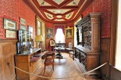 Château de la Bussière, actuellement musée de la Pêche - Deutsch: Innenansicht des Schlosses La Bussière