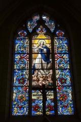 Eglise Sainte-Marguerite - Deutsch: Bleiglasfenster in der Kirche Sainte-Marguerite in Cerdon (Frankreich, Darstellung: Mariä Himmelfahrt; Signatur: LORIN CHARTRES , 1888)