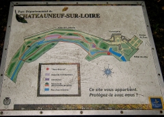 Château -  Current layout of the pleasure ground belonging to Castle Chateauneuf, located in the town of Chateauneuf-sur-Loire, Département Loiret/France