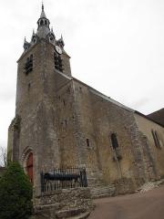 Eglise Saint-Etienne - English: Saint-Étienne church in Château-Renard, Loiret, and its well.