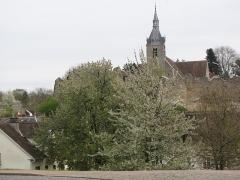 Eglise Saint-Etienne - English: Église Saint-Étienne, seen from the entrance of the Metelen garden on Avenue du Chemin Blanc.