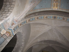 Eglise Saint-Etienne - English: Château-Renard, Saint-Étienne church. Arch at entrance of collateral chapel in north transept.