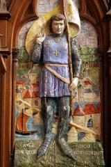 Eglise Saint-Etienne - Français:   Photographie de la céramique représentant Janne d\'Arc dans l\'église de Jargeau (France - Loiret - 45)