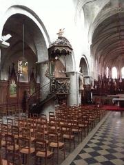 Eglise Saint-Etienne -  Chaire de l\'église Saint-Étienne de Jargeau dans le Loiret.