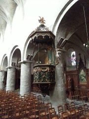 Eglise Saint-Etienne -  chaire de l\'église Saint-Étienne de Jargeau dans le Loiret