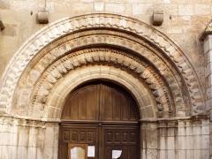 Eglise Notre-Dame -  portail de l'église de Lorris dans le Loiret