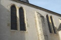 Eglise Saint-Martin - Deutsch: Katholische Pfarrkirche Saint-Martin in Malesherbes im Département Loiret (Centre-Val de Loire/Frankreich), Fenster der Südseite