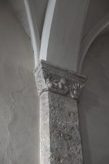 Eglise Saint-Martin - Deutsch: Katholische Pfarrkirche Saint-Martin in Malesherbes im Département Loiret (Centre-Val de Loire/Frankreich), Pilaster mit Kapitell