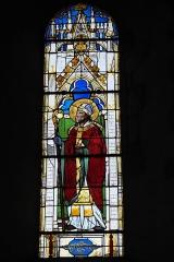 Eglise Saint-Martin - Deutsch: Katholische Pfarrkirche Saint-Martin in Malesherbes im Département Loiret (Centre-Val de Loire/Frankreich), Bleiglasfenster; Darstellung: Heiliger Augustinus