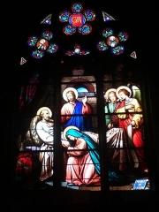 Eglise de la Madeleine - English: In St Madeleine church, Montargis, Loiret, Gâtinais, région Centre, France. Stained-glass window featuring St Joseph's death.
