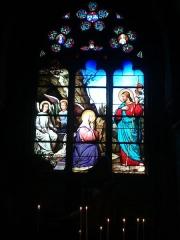 Eglise de la Madeleine - English: In St Madeleine church, Montargis, Loiret, Gâtinais, région Centre, France. Stained-glass window featuring St Madeleine & Jésus.