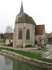 Eglise Notre-Dame et Saint-Blaise - Français:   Église de Montbouy avec le canal du Loing.