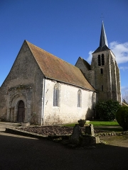 Eglise Notre-Dame et Saint-Blaise - English: Montbouy, Loiret, Centre region, France. Notre-Dame et Saint-Blaise church, viewed from the west.