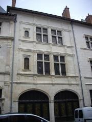 Hôtel Cabu ou maison dite de Diane de Poitiers, actuellement Musée archéologique et historique de l'Orléanais - Hôtel Cabu, musée d'histoire et d'archéologie d'Orléans (Loiret, France), façade sur rue Charles-Sanglier