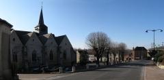 Eglise Saint-Germain - Français:   Panorama place de l\'église de Saint-Germain-des-Prés