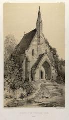Ruines de l'abbaye de Fontainejean (ou Fontaine-Jean) -  Représentation de la chapelle Saint-Laurent de l'abbaye de Fontainejean, Saint-Maurice-sur-Aveyron, Loiret, France