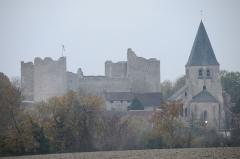 Eglise Saint-Gault d'Yèvre-le-Châtel - Français:   Le château et l\'église Saint-Gault, Yèvre-le-Châtel, Loiret, France