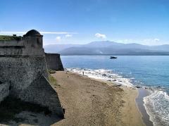 Citadelle -  Ajaccio (Corse) - Citadelle et plage Saint-François