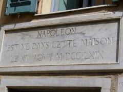 Maison de Napoléon Bonaparte -  Corsica - Ajaccio - Maison Bonaparte Napoleon - plaque