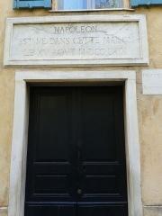 Maison de Napoléon Bonaparte - Français:   Porte d\'entrée de musée de la Maison Bonaparte en 2014.