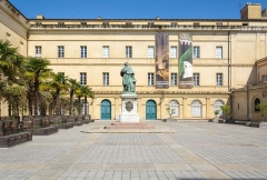 Palais Fesch - English: In the Palias Fesch (Ajaccio, Corsica) one can find a museum of fine arts (Musee Fesch) and a library.