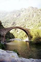 Pont génois de Pianella -  Gorges de Spelunca, Corsica.