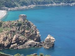 Tour génoise de Porto - English: Genoese tower, Gulf of Porto, Corsica, France