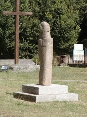 Figure antique d'Appriciani (rocher sculpté en forme de tête humaine) - Corsu: A stantara d'Apricciani - À l'intrata di Vicu