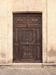 Eglise Saint-Marcel -  Aléria (Corsica) - Porte d'entrée de l'église paroissiale Saint-Marcel