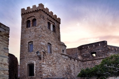 Château-fort -  Algajola, Balagne (Corse) - Le château, ancien palais des gouverneurs génois, au couchant