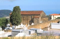 Eglise de la Sainte-Trinité - Français:    Aregno France (Haute-Corse), l'église Pisane de  la  Sainte-Trinité (XIIe siècle).