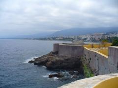 Citadelle et palais du Gouverneur, partiellement aménagé en Musée d'Ethnographie -  Citadelle of Bastia