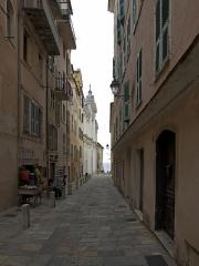 Eglise Sainte-Marie, ancienne cathédrale - English: The facade of Santa Maria Assunta from Rue Notre Dame, Bastia