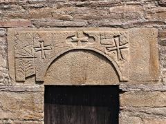 Chapelle Notre-Dame-des-Neiges - Corsu: Brandu, Cap Corse (Corsica) - Soprapporta sculpitu di a cappella Santa Maria delle Nevi di Silgaggia