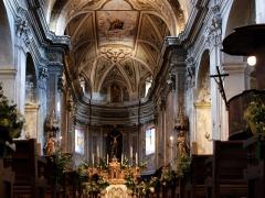 Eglise Saint-Blaise et Campanile -  Calenzana, Balagne (Haute-Corse) - Chœur de l'église paroissiale Saint-Blaise.