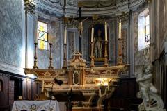 Eglise Saint-Blaise et Campanile -  Calenzana, Balagne (Haute-Corse) - Maître-autel et tabernacle de l'église paroissiale Saint-Blaise (San Biasgiu) du XVIIe siècle, classés Monument historique par arrêté du 16 mars 1908