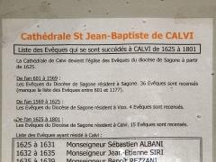 Eglise Saint-Jean-Baptiste -  Calvi, Balagne (Haute-Corse) - Affichette \