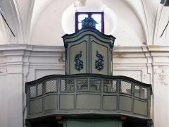 Eglise Saint-Jean-Baptiste -  Calvi, Balagne (Haute-Corse) - L'orgue de tribune de la pro-cathédrale Saint-Jean-Baptiste. Seule la partie instrumentale de l'orgue est classée.
