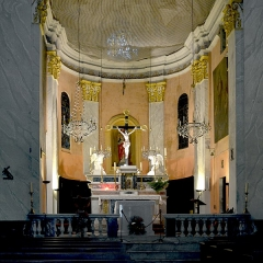 Eglise Sainte-Marie -  Calvi, Balagne (Haute-Corse) - Chœur de l'église Sainte-Marie-Majeure.
