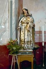 Eglise Sainte-Marie -  Calvi, Balagne (Haute-Corse) - Statue Vierge à l'Enfant dans l'église Sainte-Marie-Majeure.