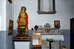 Eglise paroissiale -  Cateri, Balagne (Corse) - Statue de Santa Lucia dans l'église paroissiale de l'Assomption