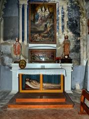 Eglise paroissiale -  Cateri, Balagne (Corse) - Vitrine avec le gisant du Christ dans l'église paroissiale de l'Assomption.
