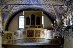Chapelle Sainte-Croix -  Corte, Centre Corse - Orgue de tribune et la tribune d'orgue (classée aux Monuments historiques) de la chapelle Sainte-Croix.