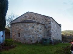 Chapelle San-Cervone - Français:   Lavatoggio, Balagne (Corse) - Chevet de la chapelle San Cervone (MH)
